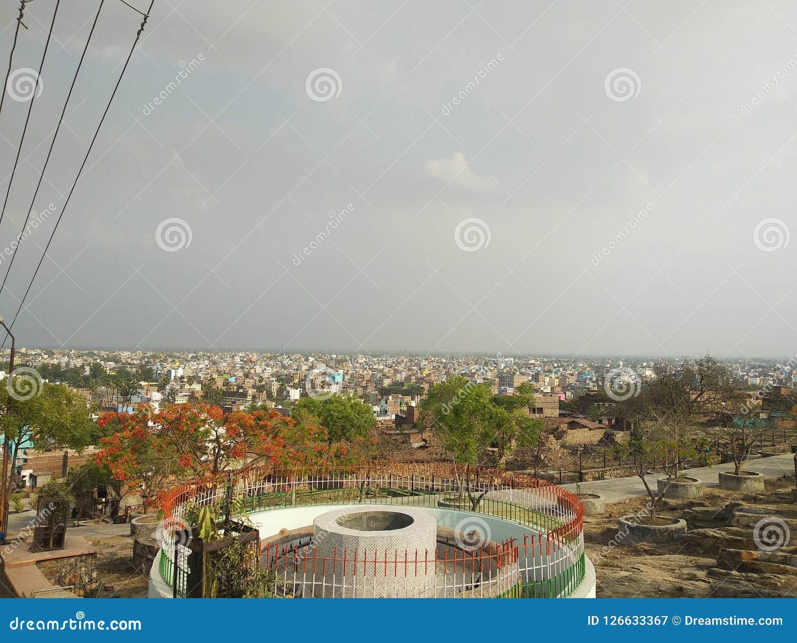 De het parkindustrie en handel van Patna