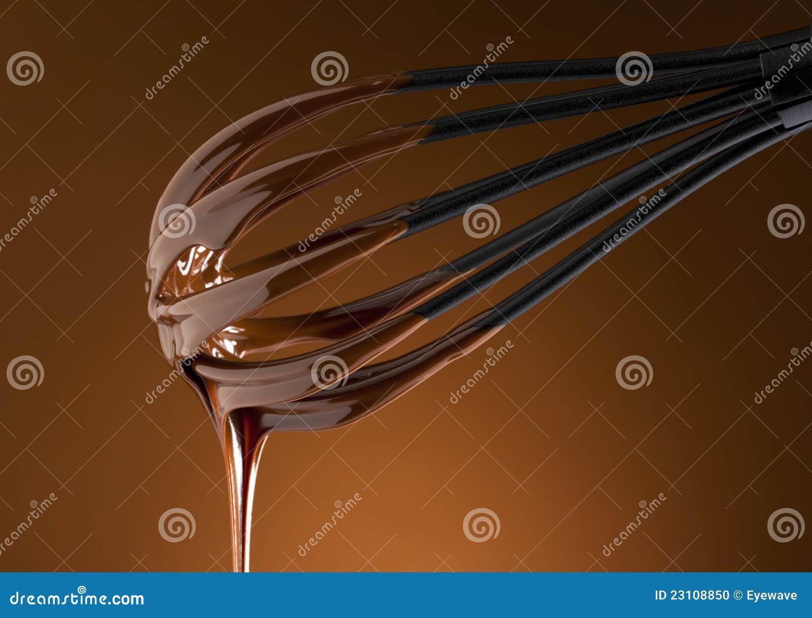 De hete chocolade op zwaait