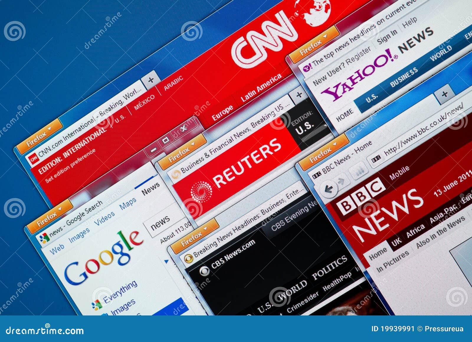 De hete Websites van het Nieuws