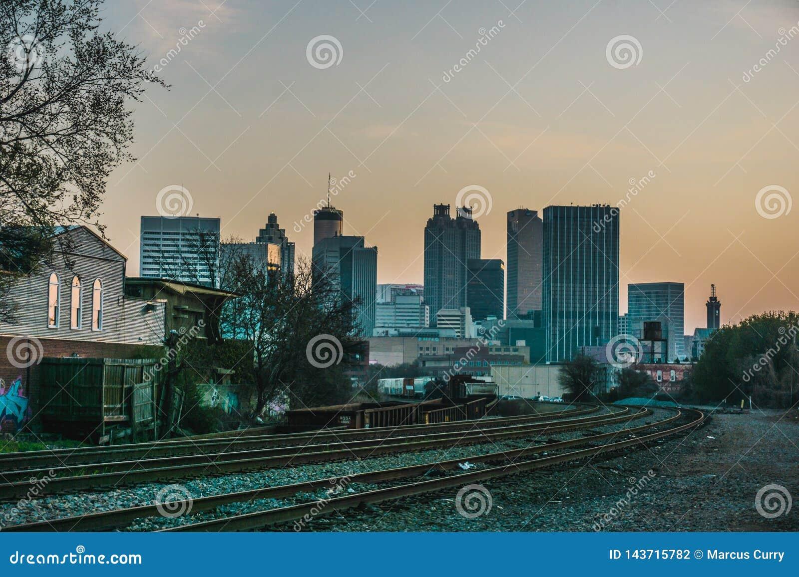 De Heuvel van Atlanta Georgia Skyline Perspective From Castleberry