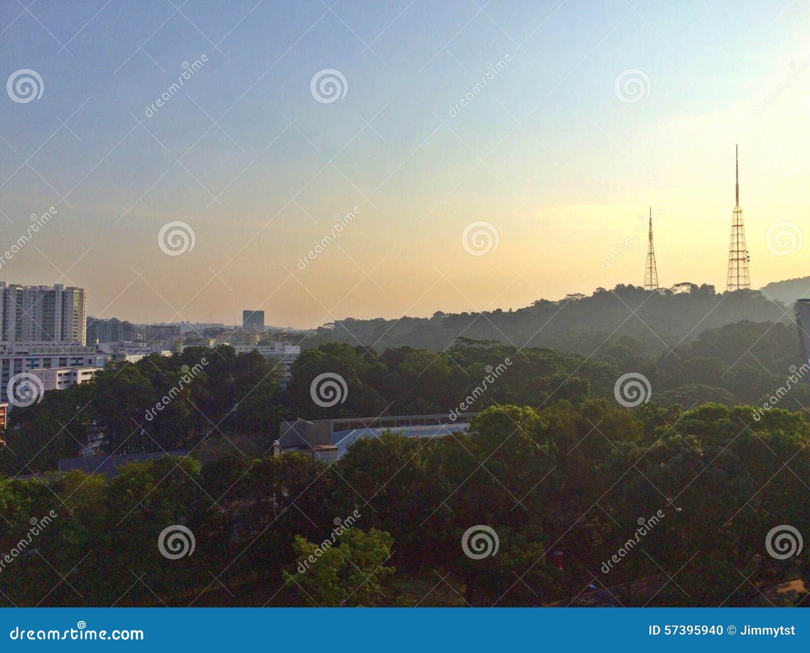 De heuvel van Bukitbatok, Singapore