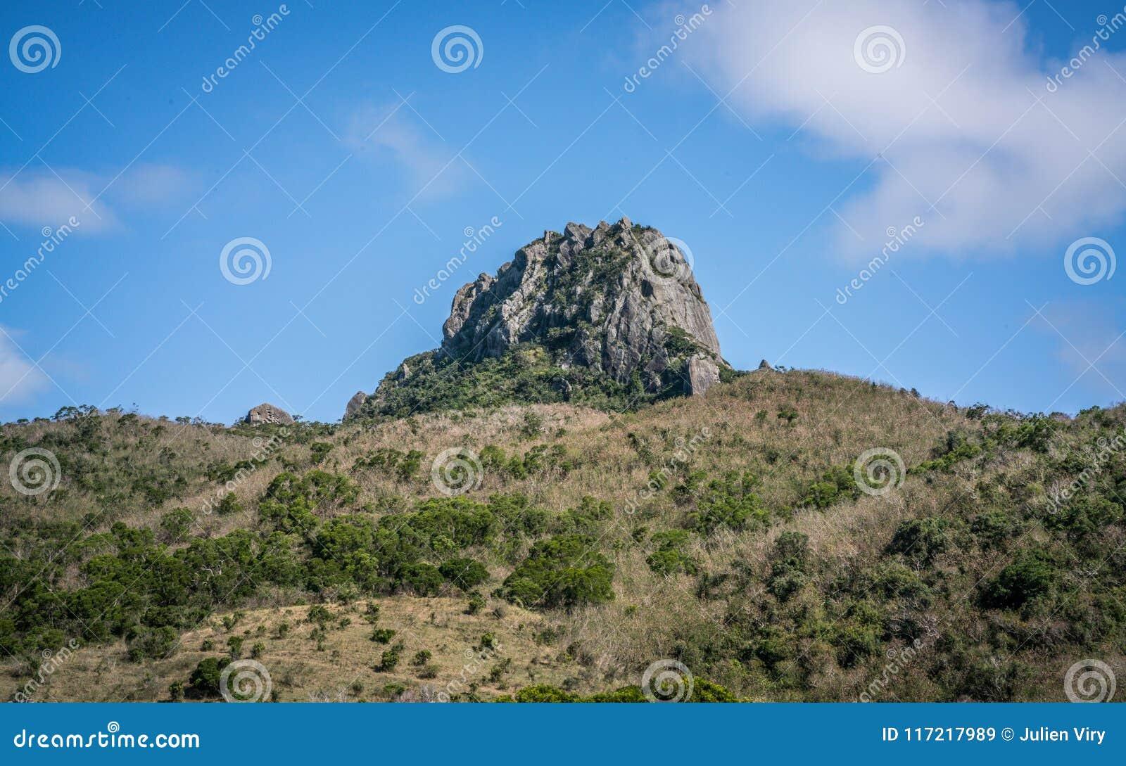 De heuvel van de Dajiansteen in nationale het parkmening van Kenting in Taiwan