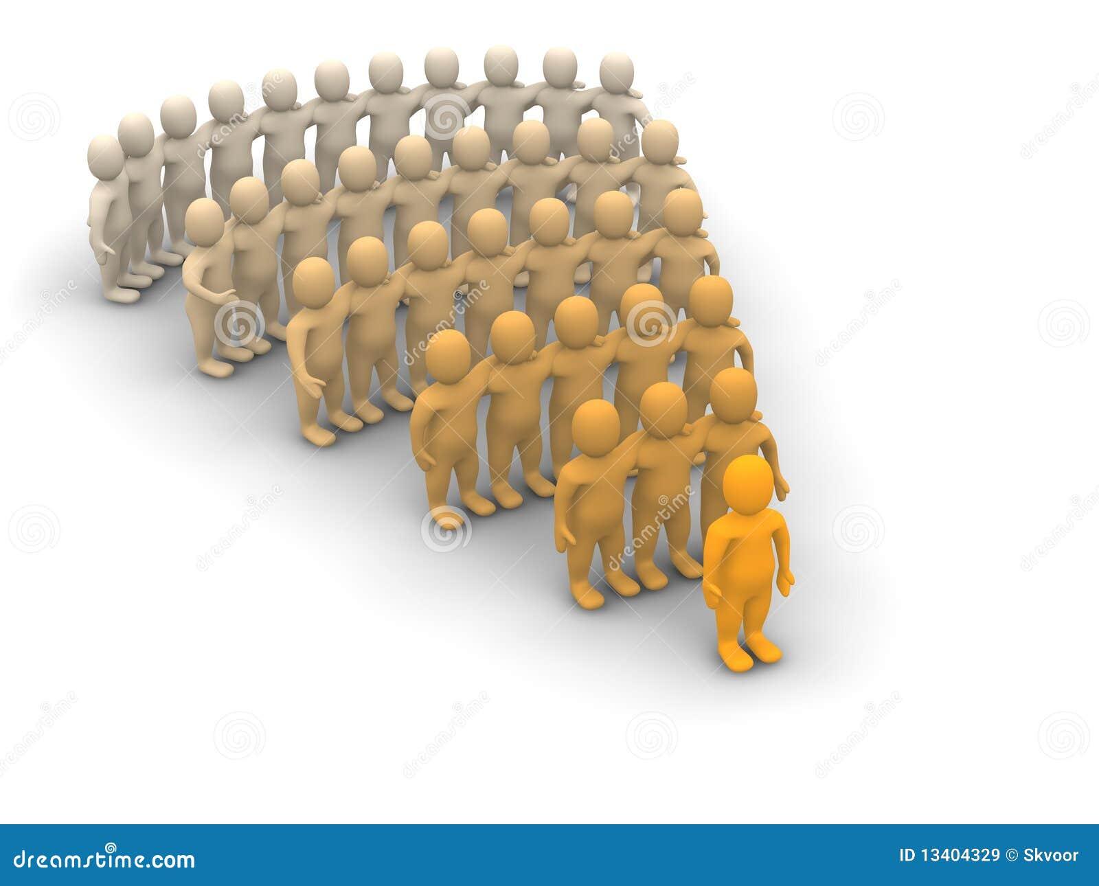De hiërarchie van de leider en van het team
