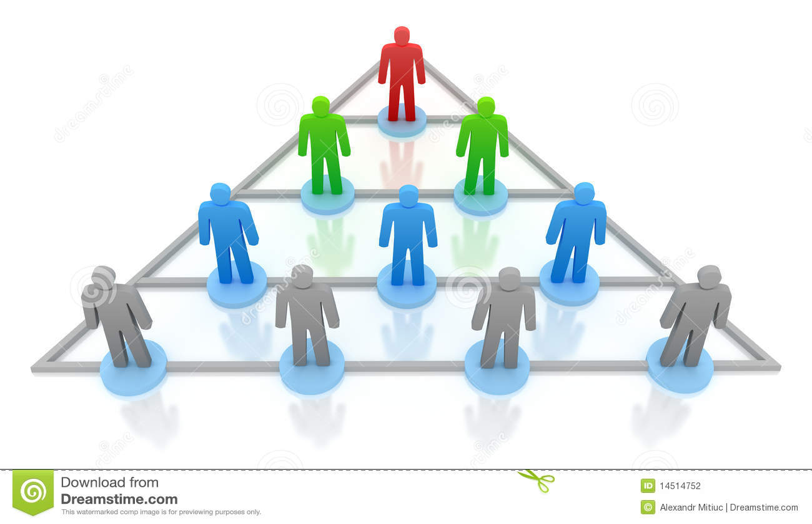 De hiërarchie van de piramide. Bedrijfs concept