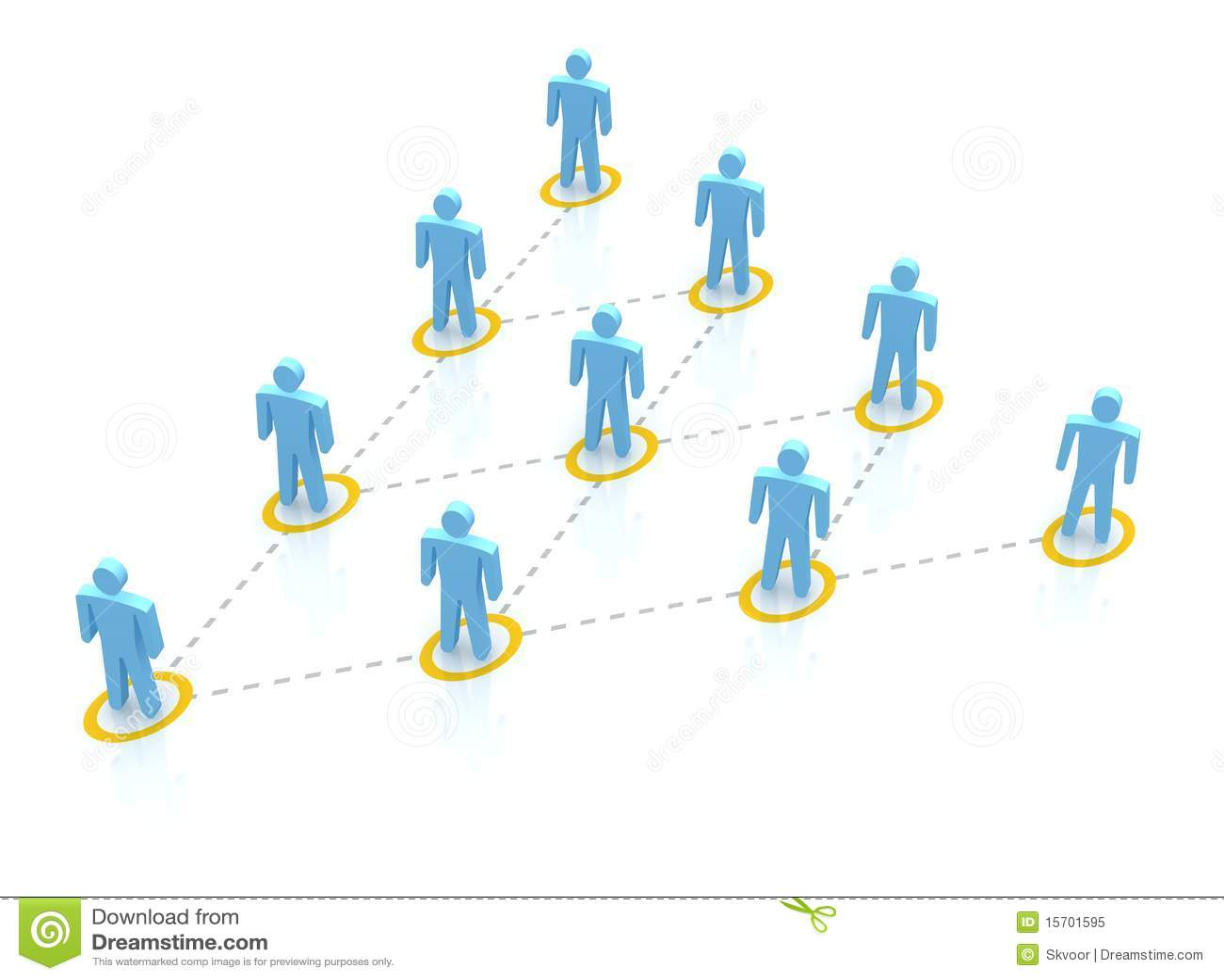 De hiërarchie van het team