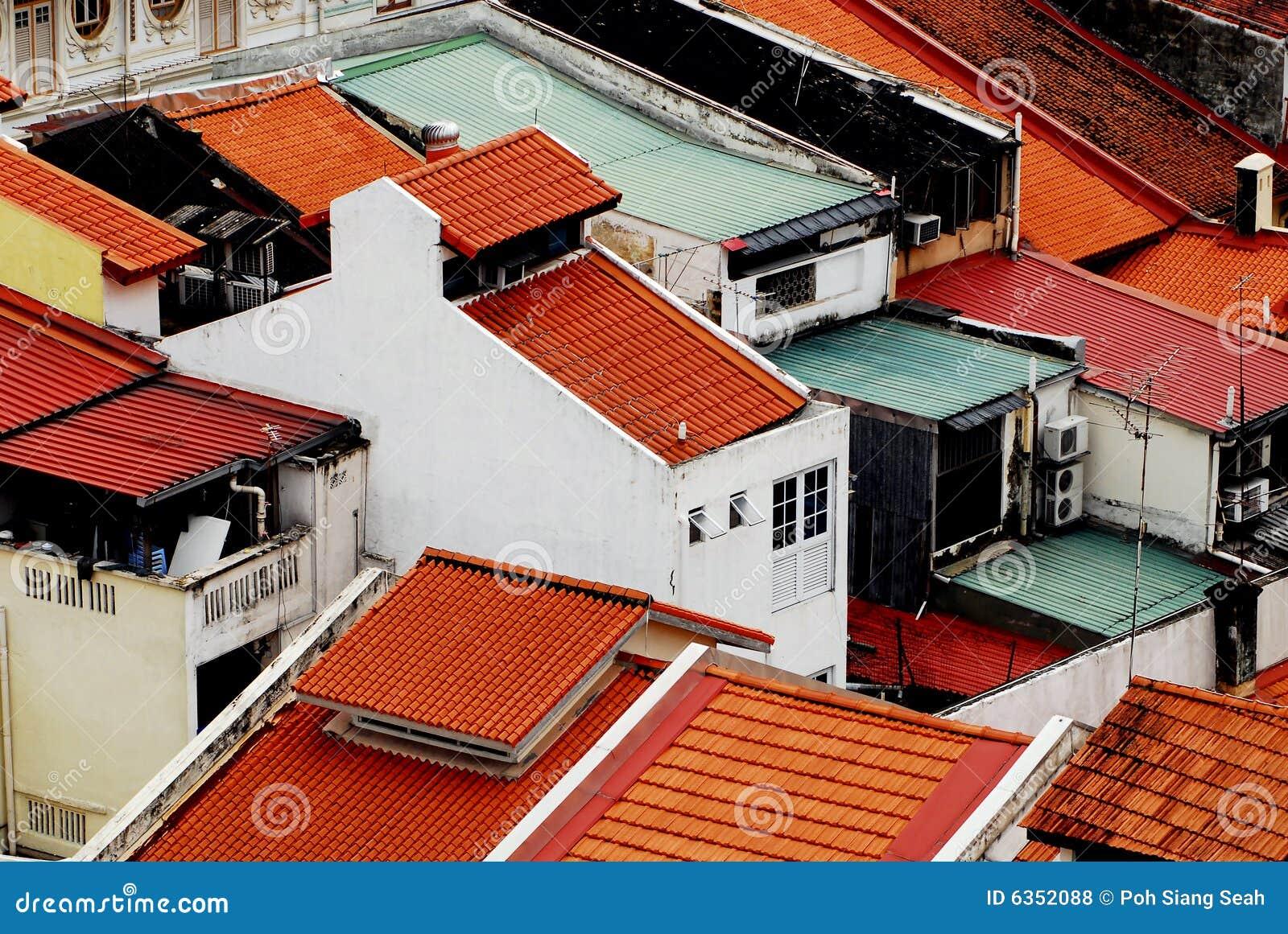 De historische bouw in Singapore