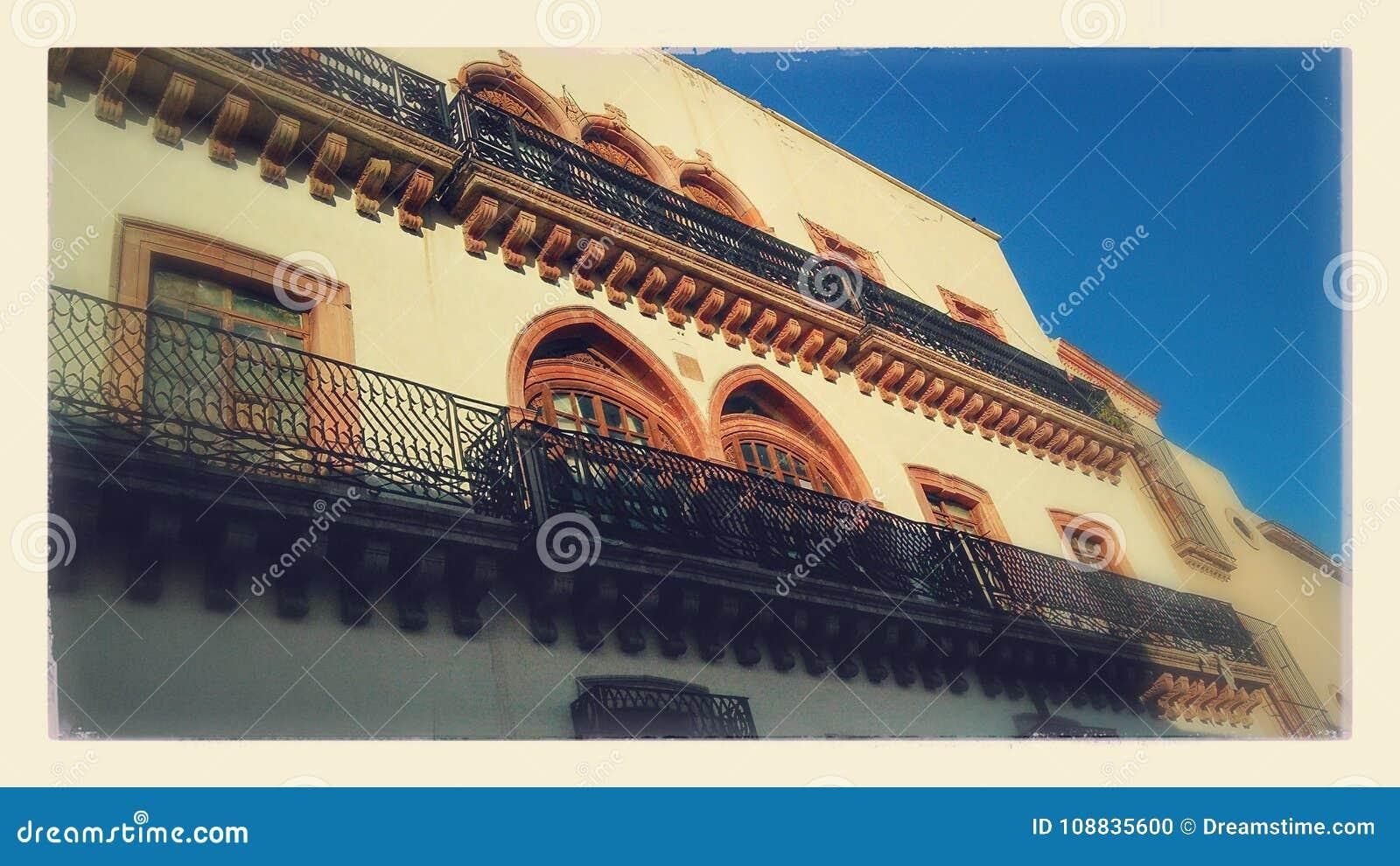 De historische Bouw Zacatecasstad México
