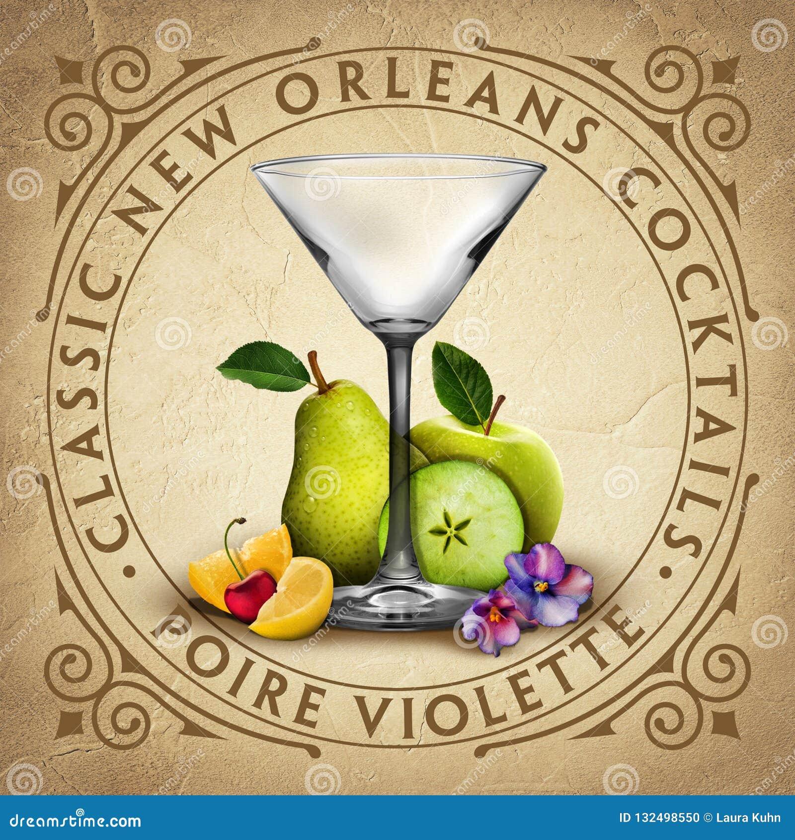 De historische Iconische Klassieke Cocktails van New Orleans