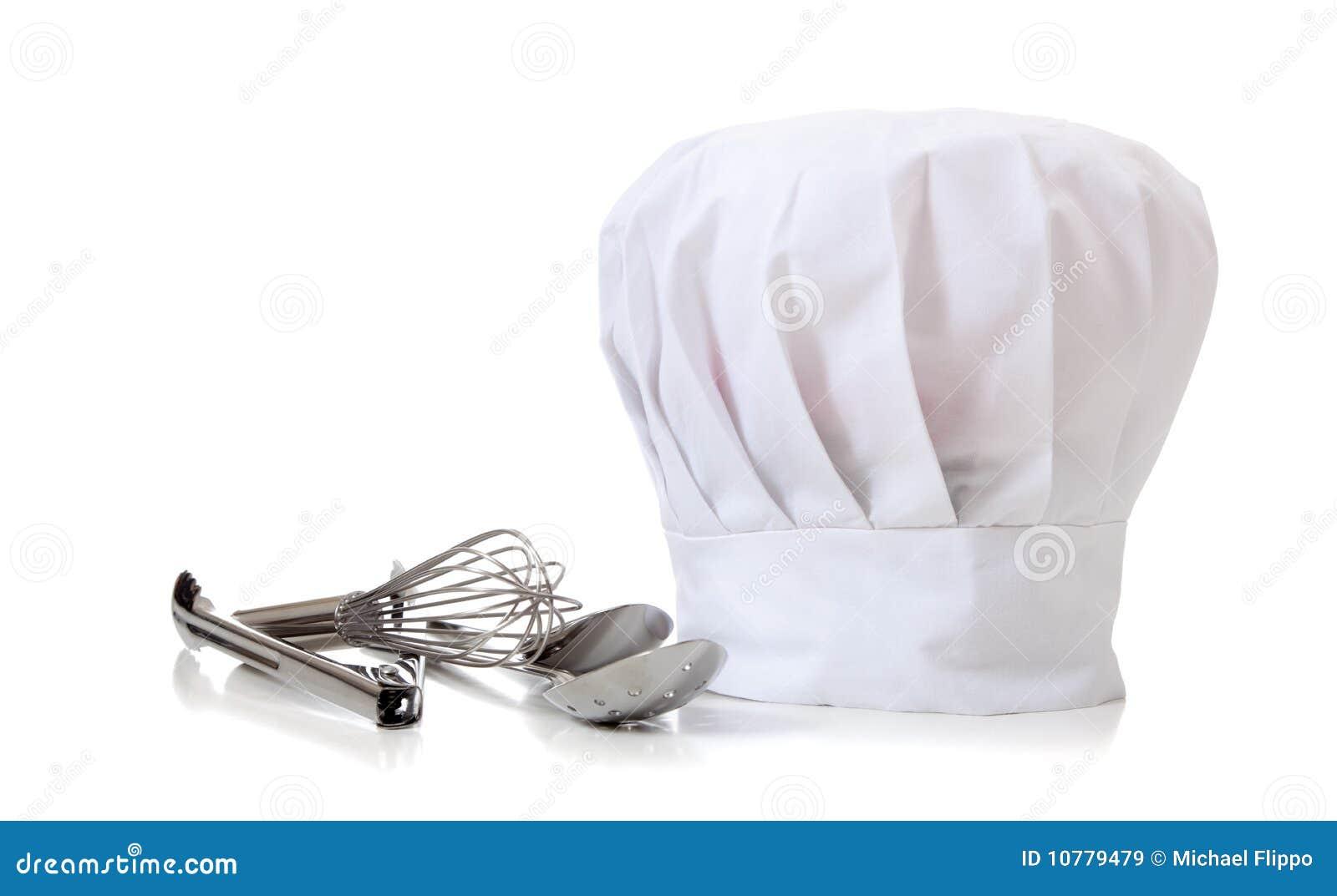 De Hoed en de werktuigen van de chef-kok