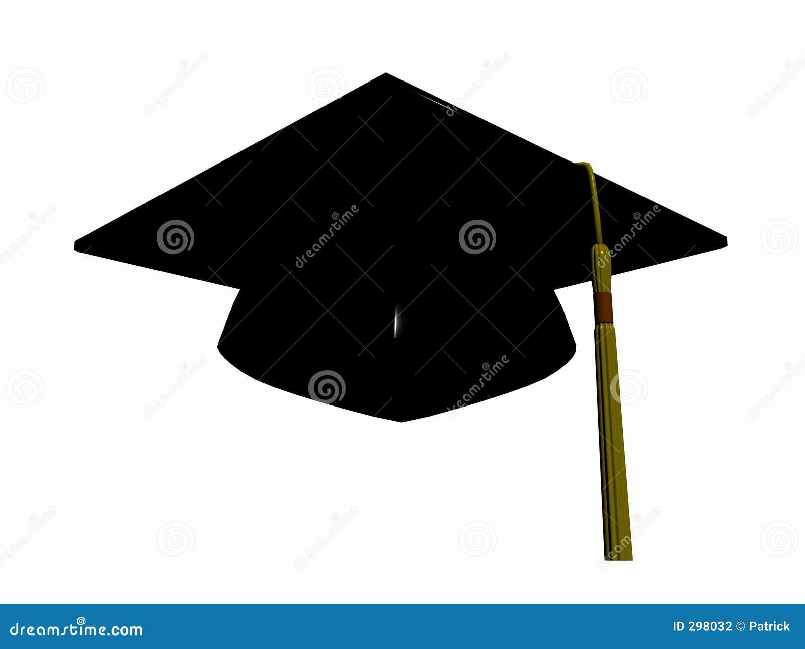 De hoed van de graduatie.