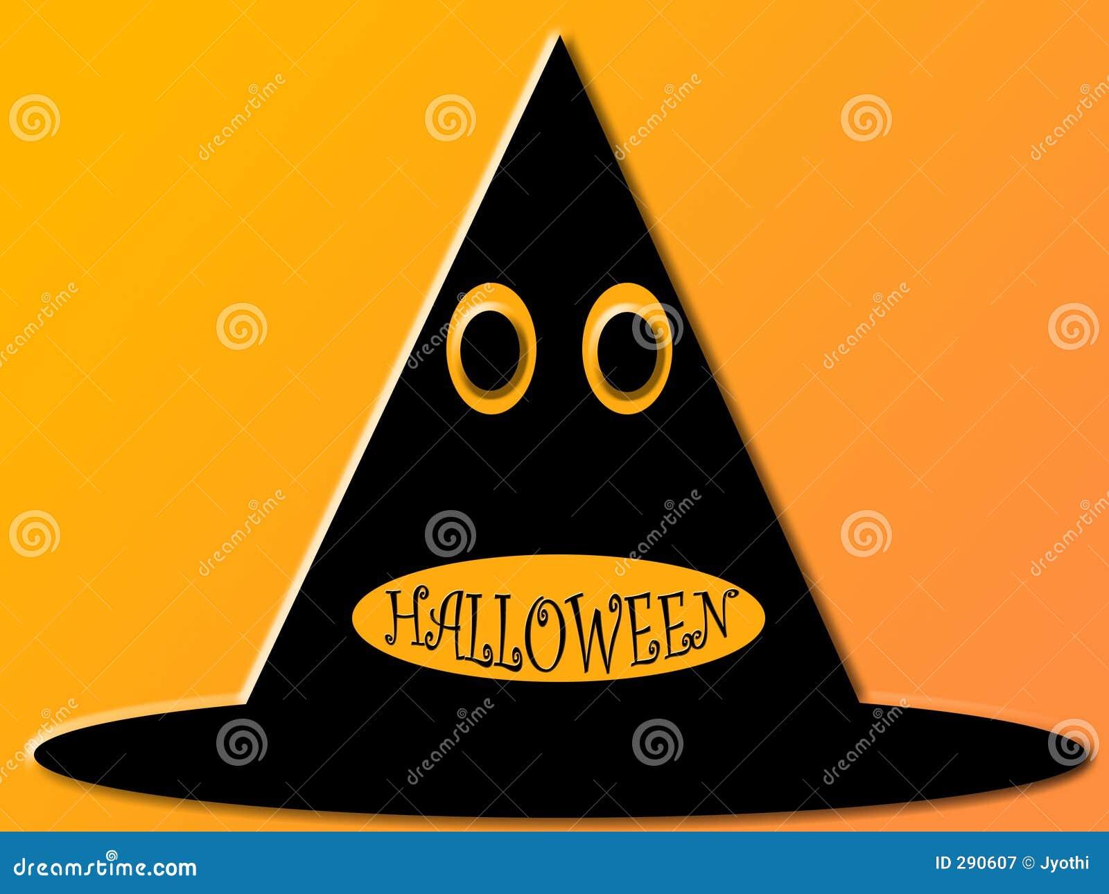 De hoed van Halloween