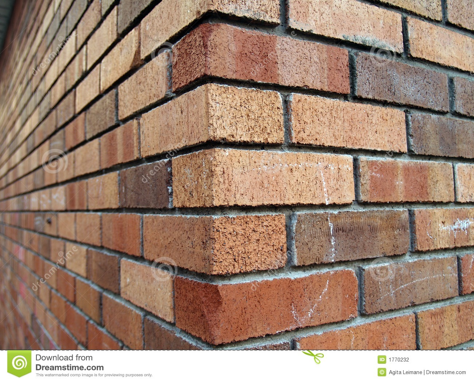De Hoek Van De Baksteen Stock Fotografie Afbeelding 1770232