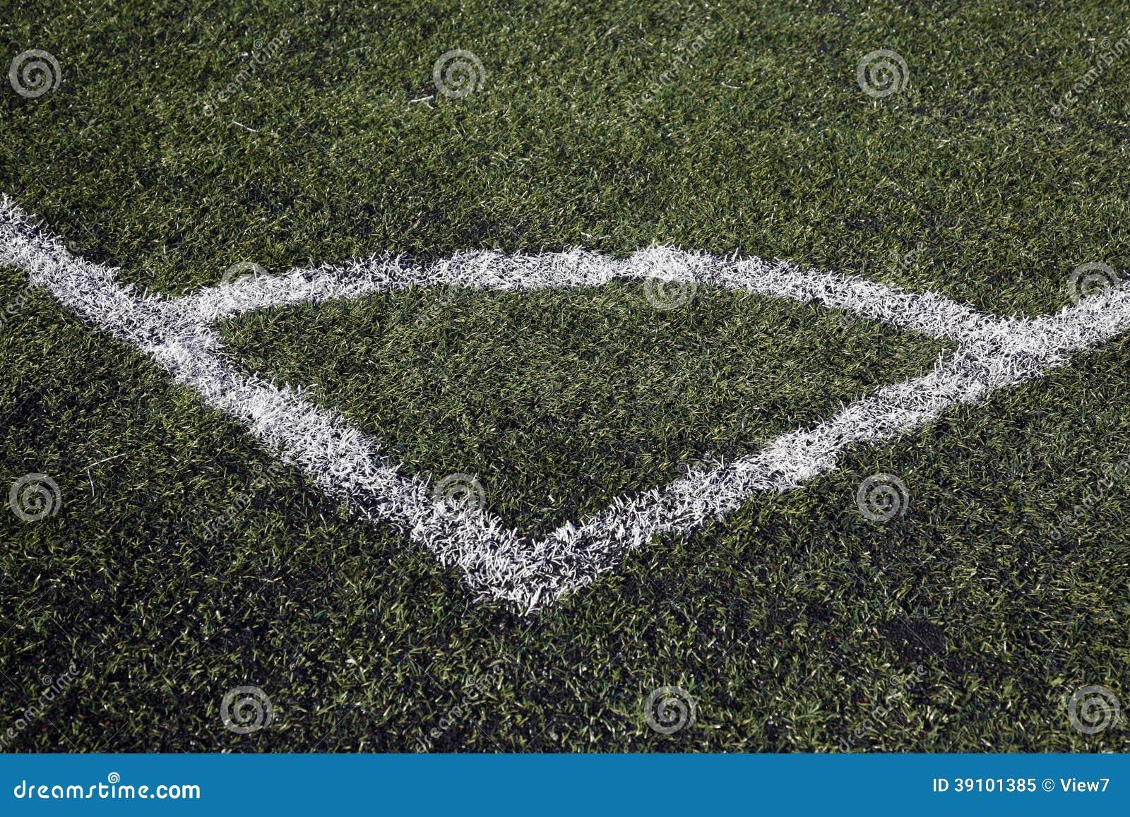 De hoek van de voetbalhoogte het merken
