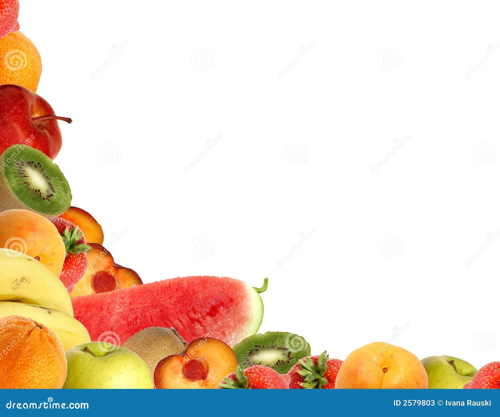 De hoek van het fruit