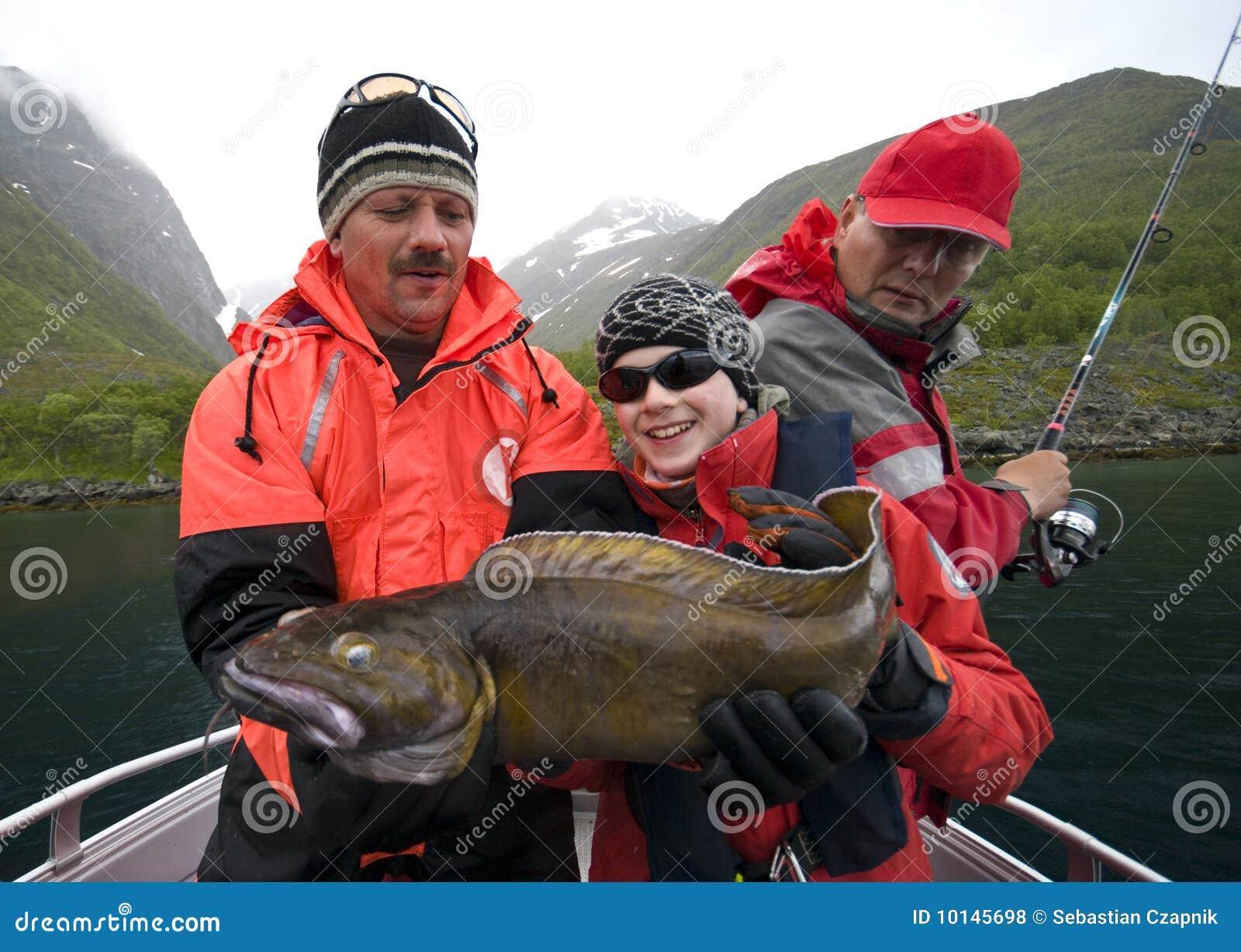 De holding Torsk van de visser