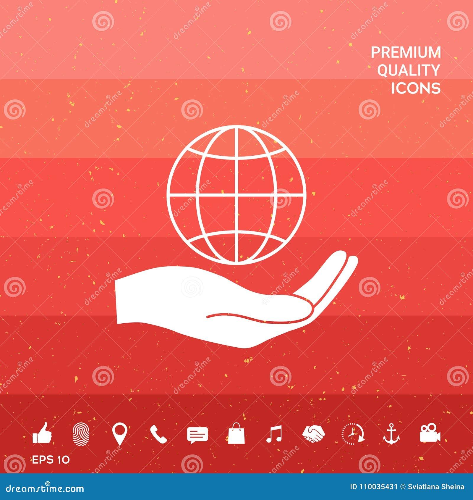 De holdingsaarde van de hand Bescherm pictogram
