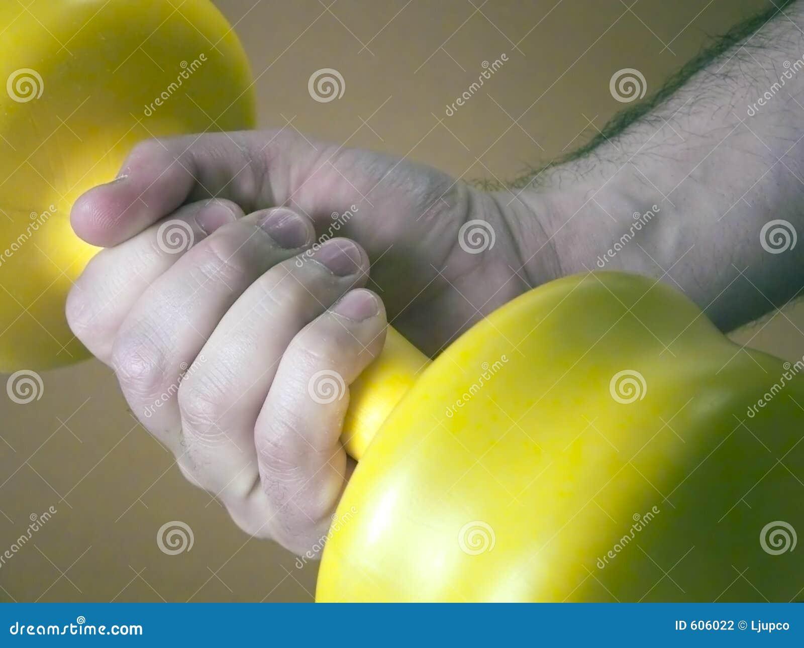 De holdingsgewicht van de hand