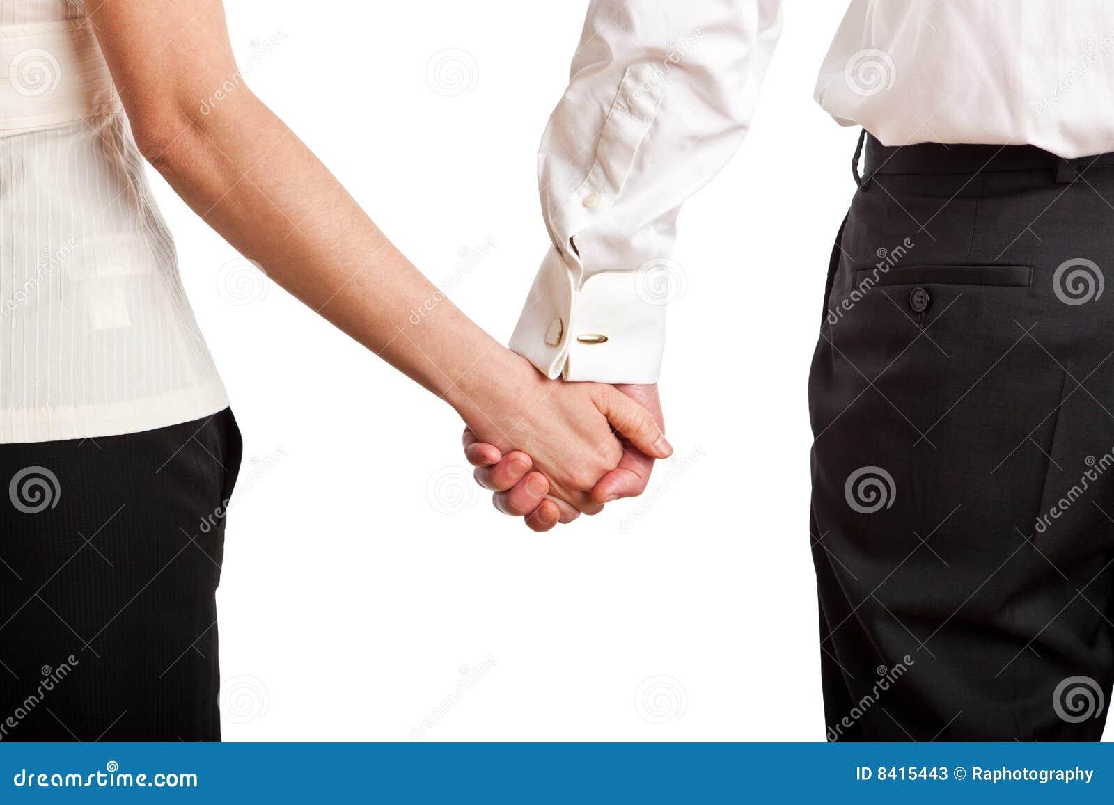 De holdingshanden van het paar
