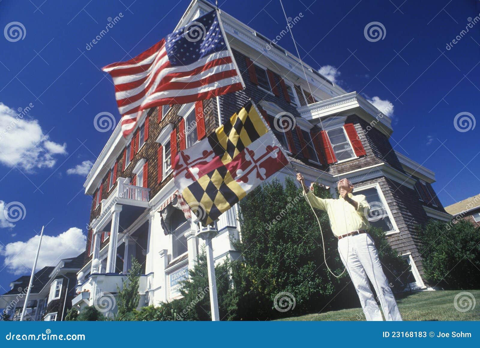 De holdingsvlag van de mens van Maryland