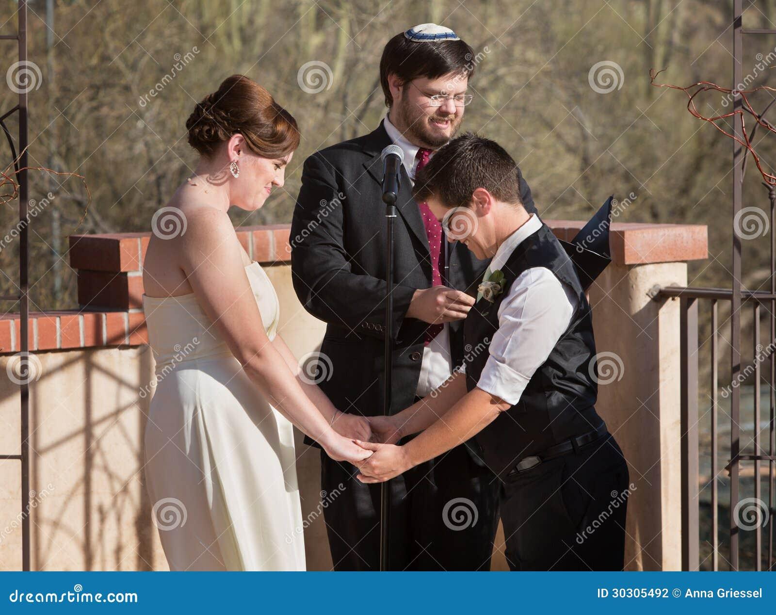 De lesbische Ceremonie van het Huwelijk