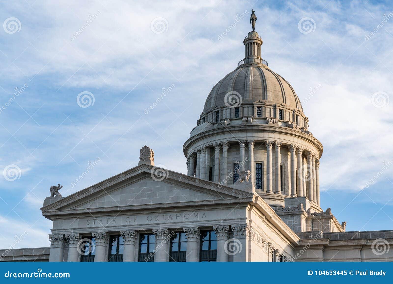 Download De Hoofdbouw Van De Staat Van Oklahoma Stock Afbeelding - Afbeelding bestaande uit architectuur, politiek: 104633445