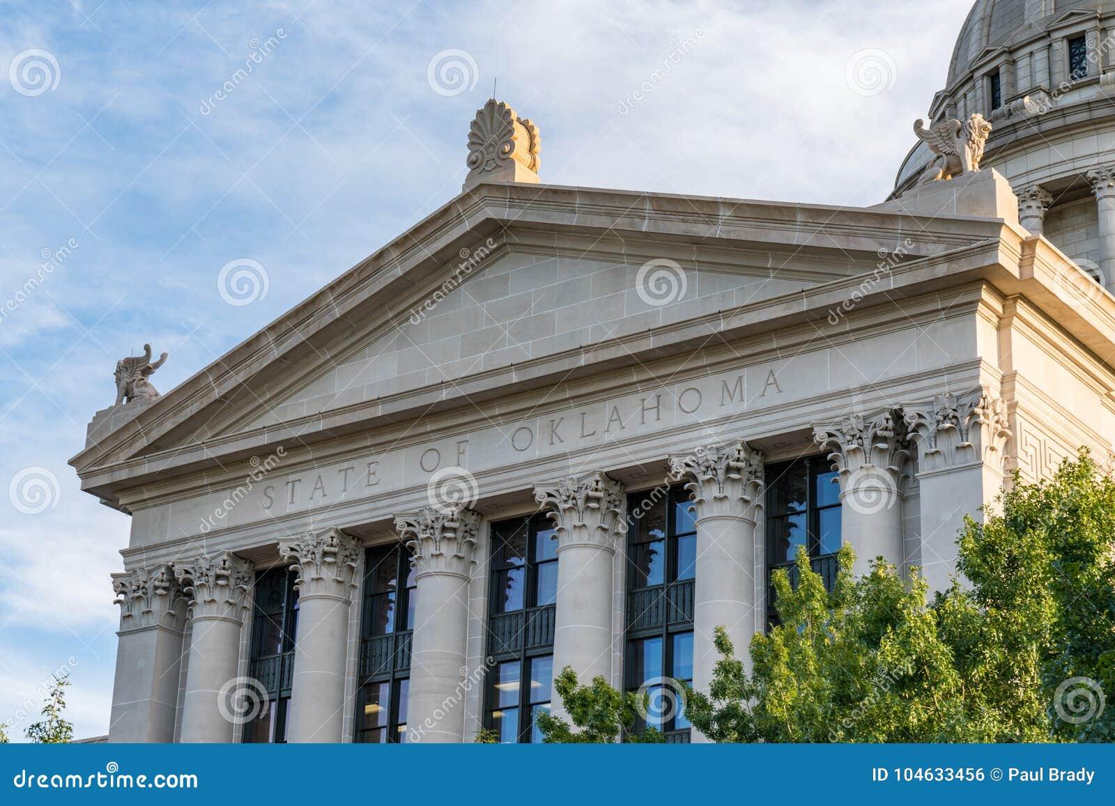 Download De Hoofdbouw Van De Staat Van Oklahoma Stock Foto - Afbeelding bestaande uit amerikaans, openbaar: 104633456