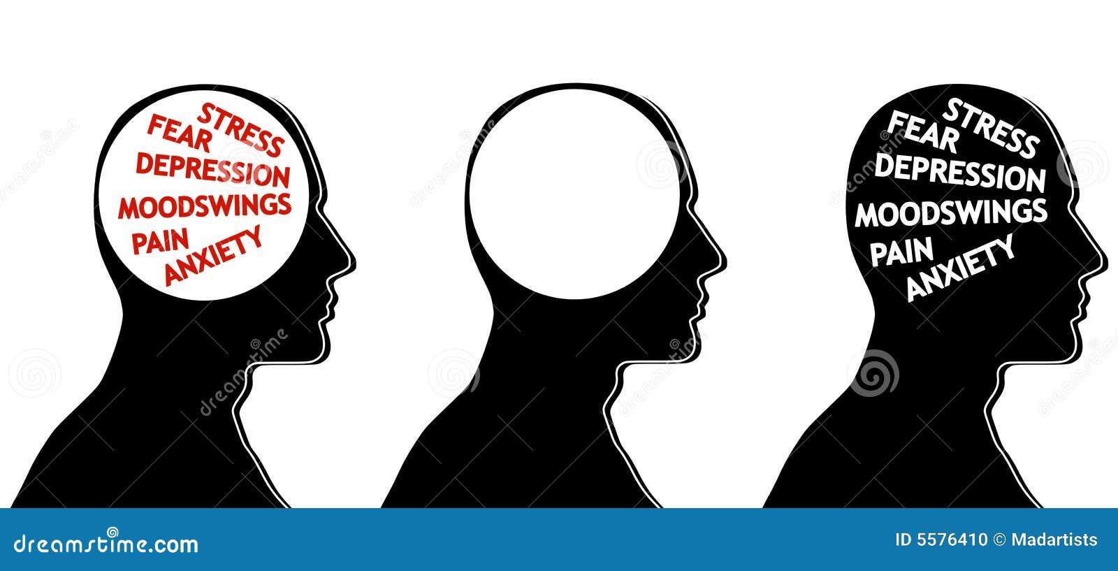 De Hoofden van het Silhouet van de psychologie