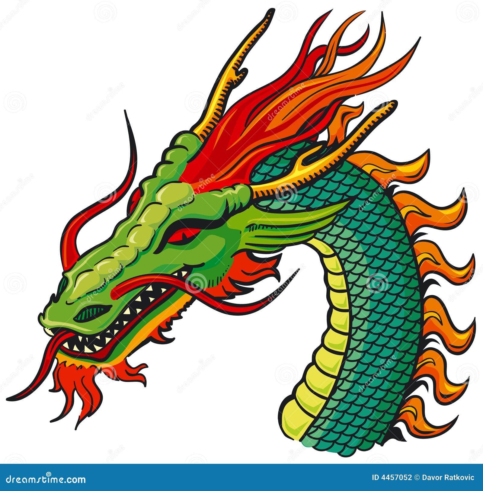 De hoofdkleur van de draak stock fotografie afbeelding - Dessin dragon couleur ...