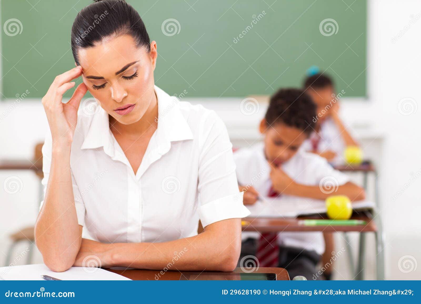 De hoofdpijn van de leraar