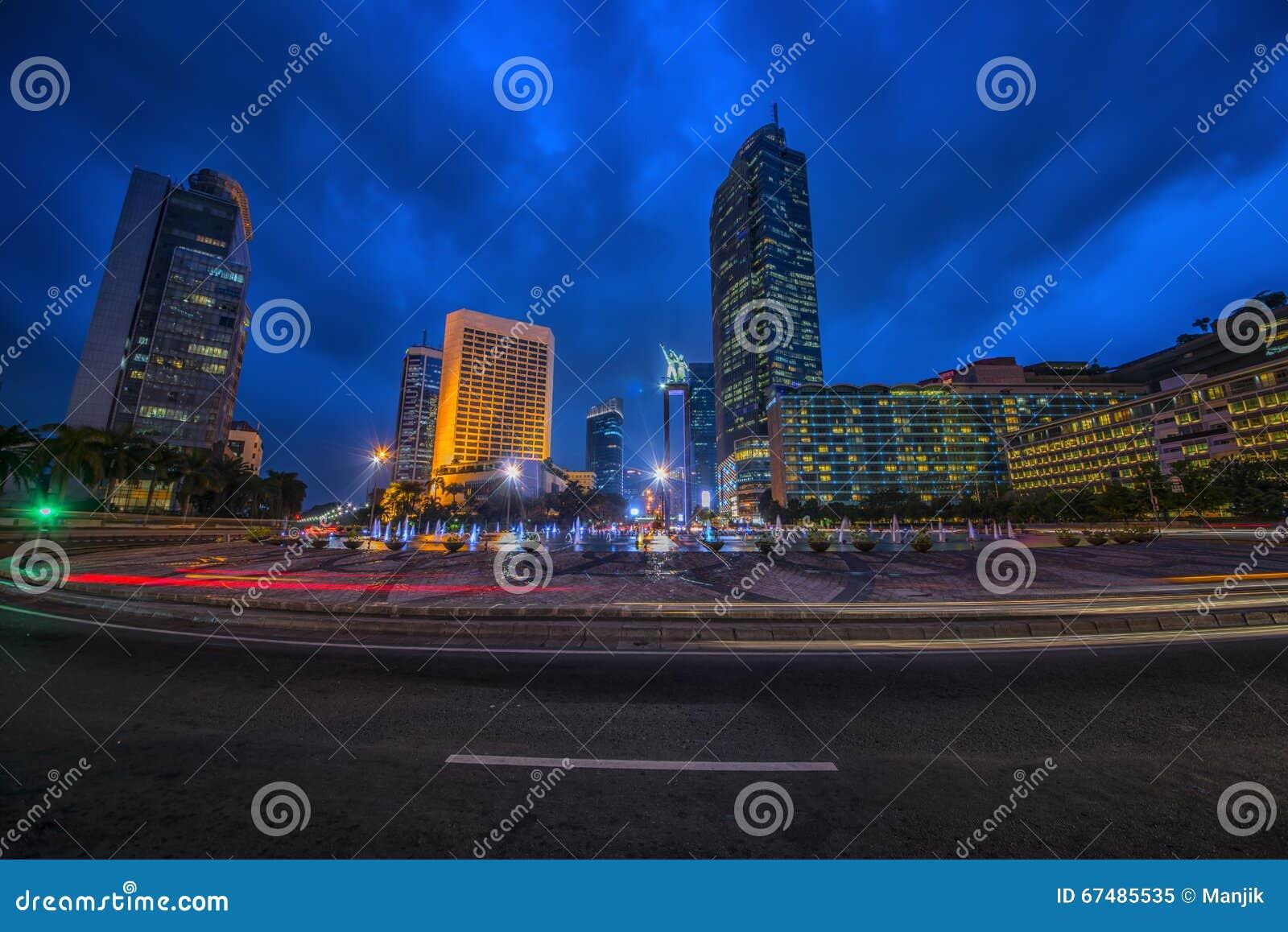 De hoofdstad van Djakarta van Indonesië