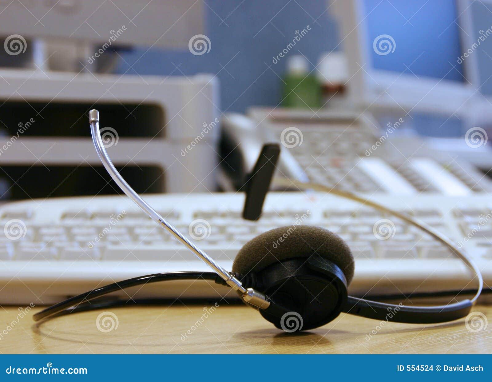 De Hoofdtelefoon van de helpdesk