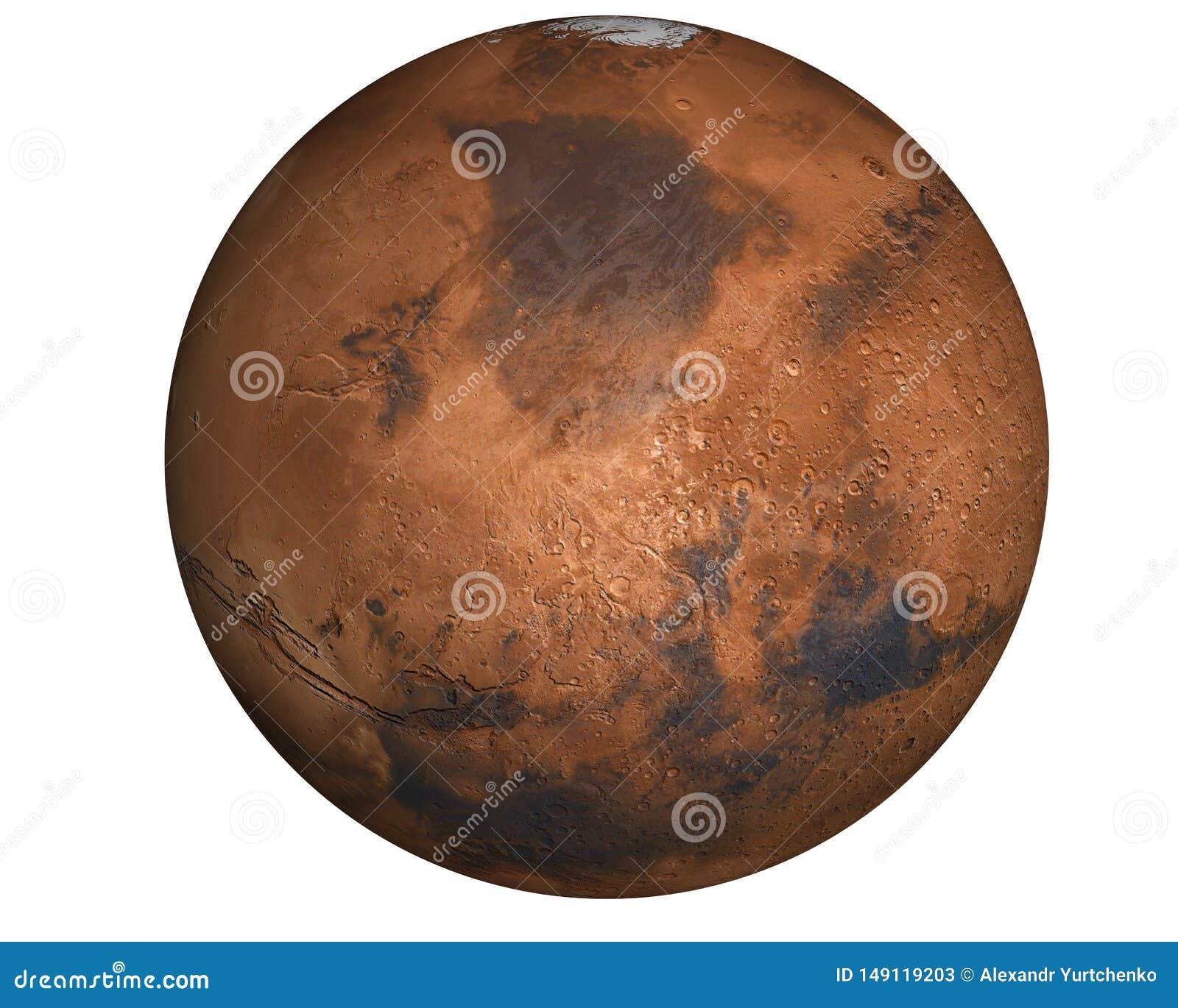 De hoogst gedetailleerde planeet van Mars