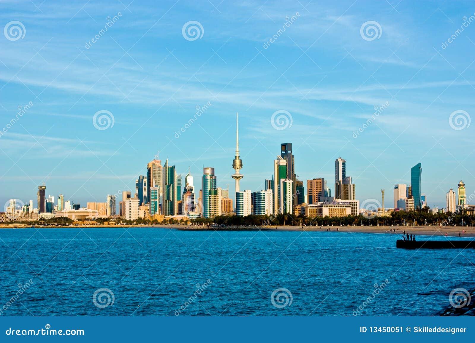 De horizon en de haven van Koeweit