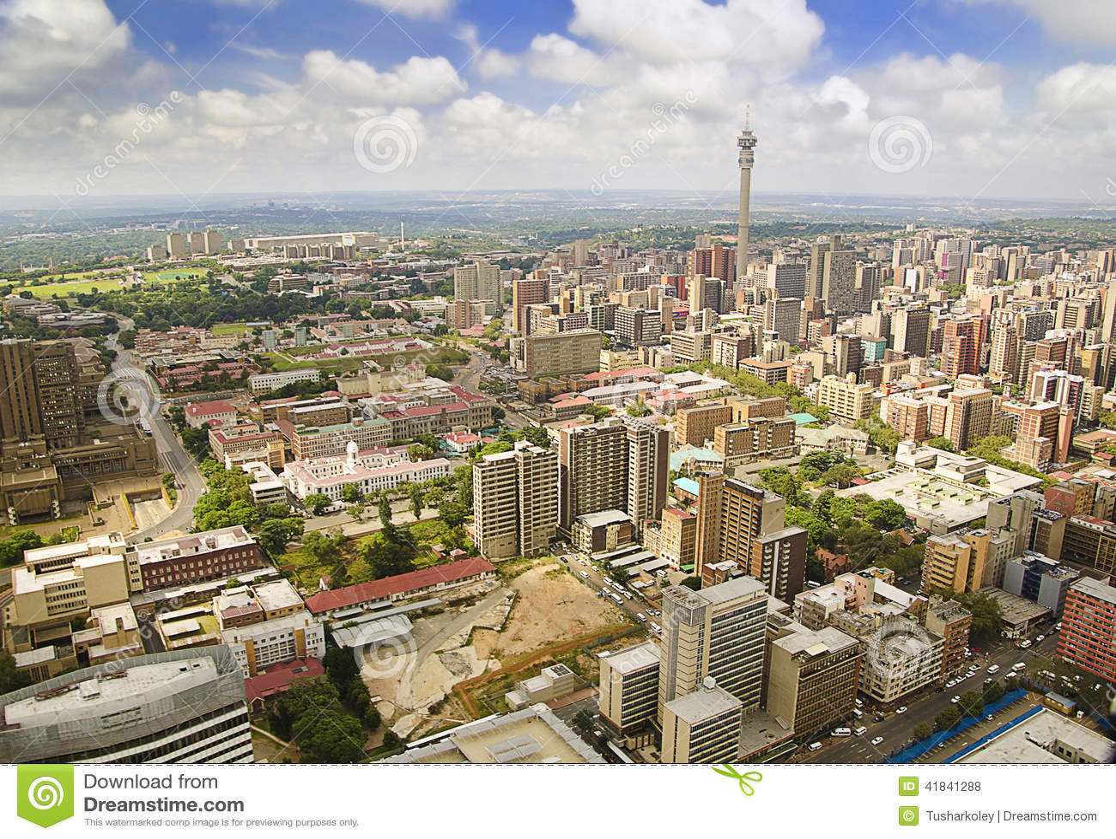 De Horizon Gebiedsmening van Johannesburg