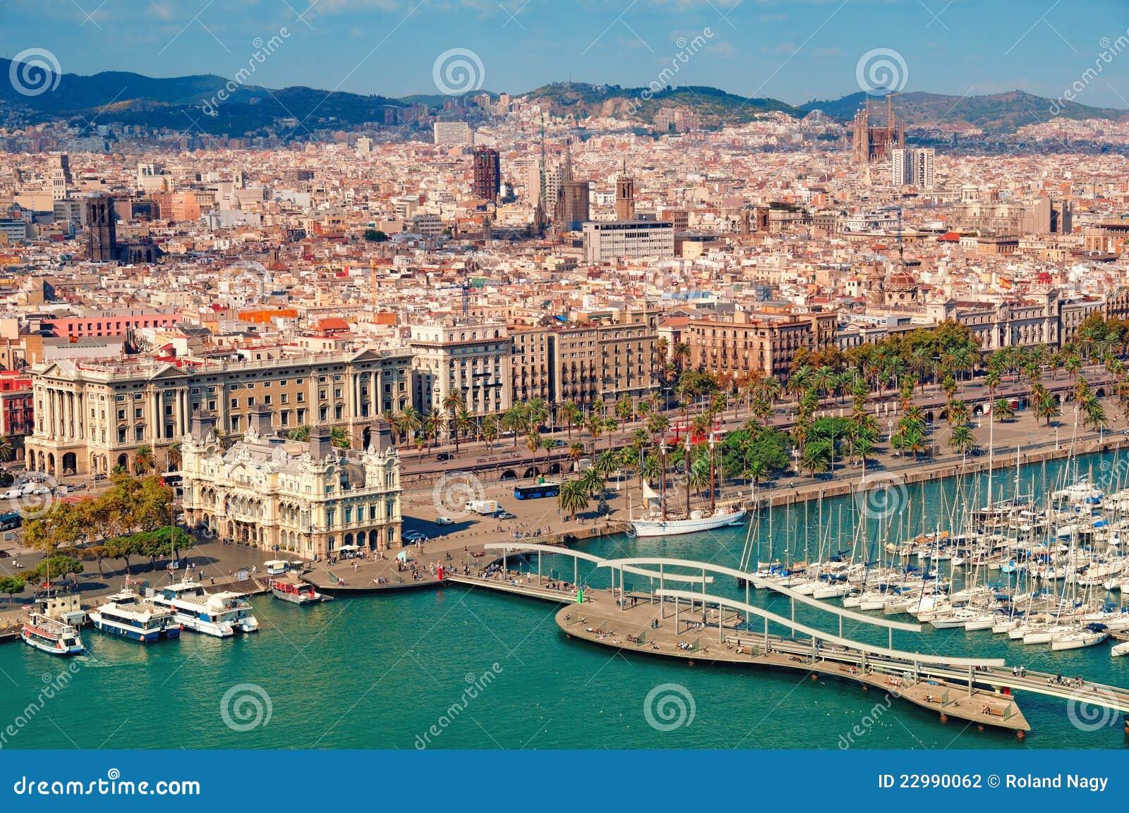 De horizon van Barcelona