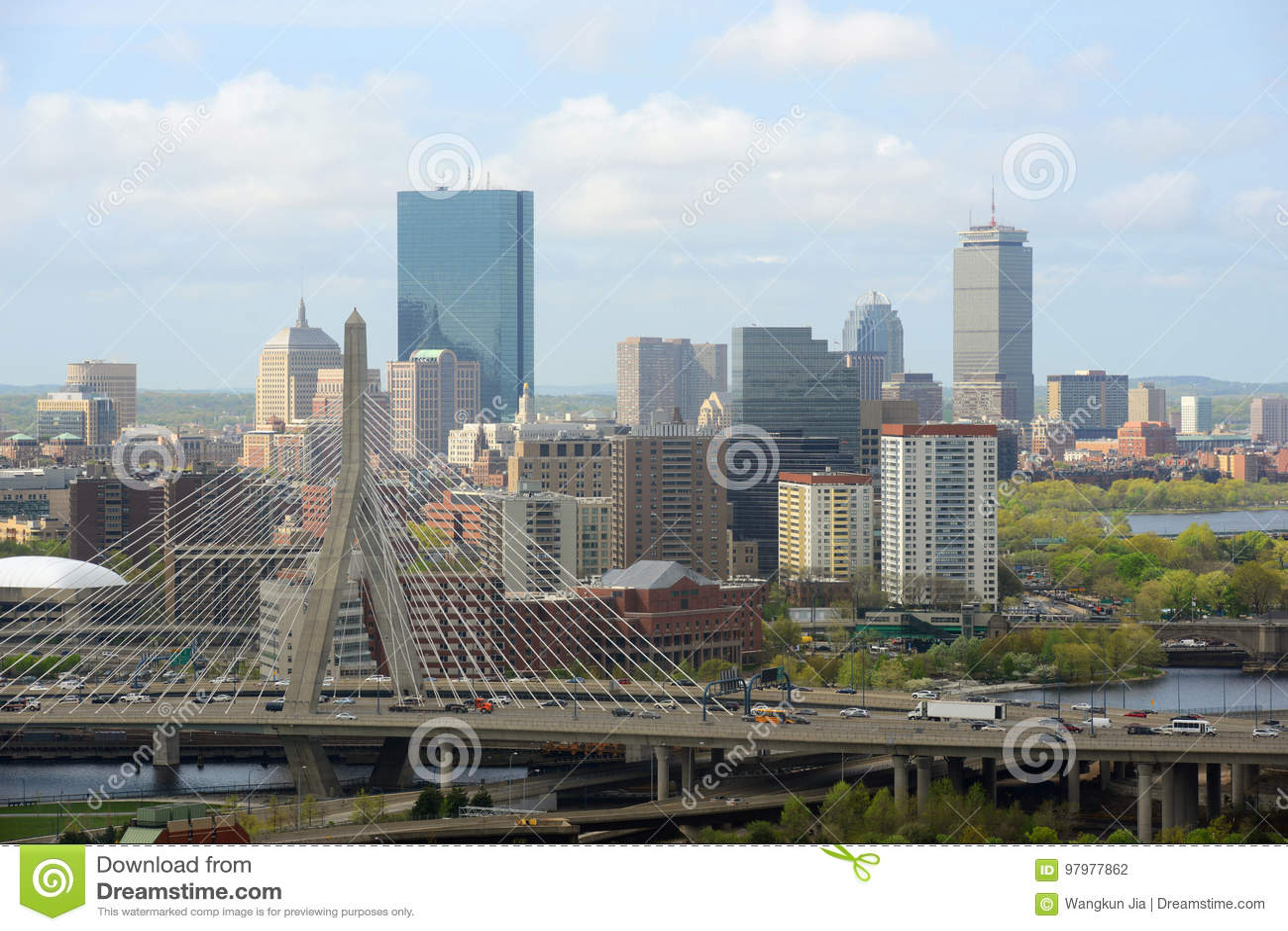 De horizon van Boston, Massachusetts, de V