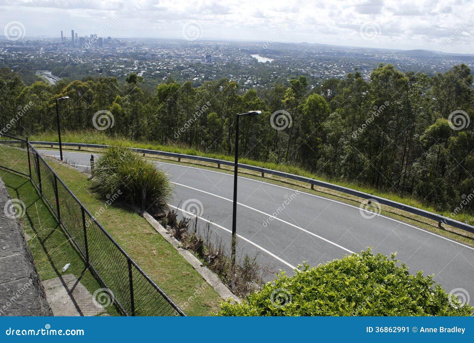 De horizon van Brisbane van Mt. koet-Tha