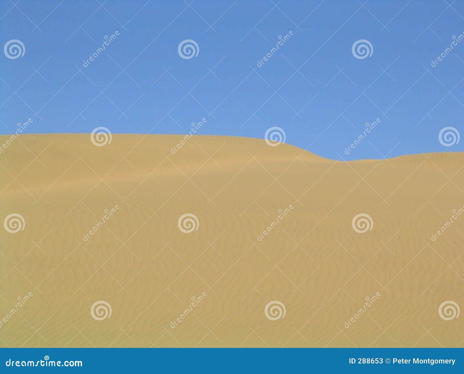 De horizon van de woestijn