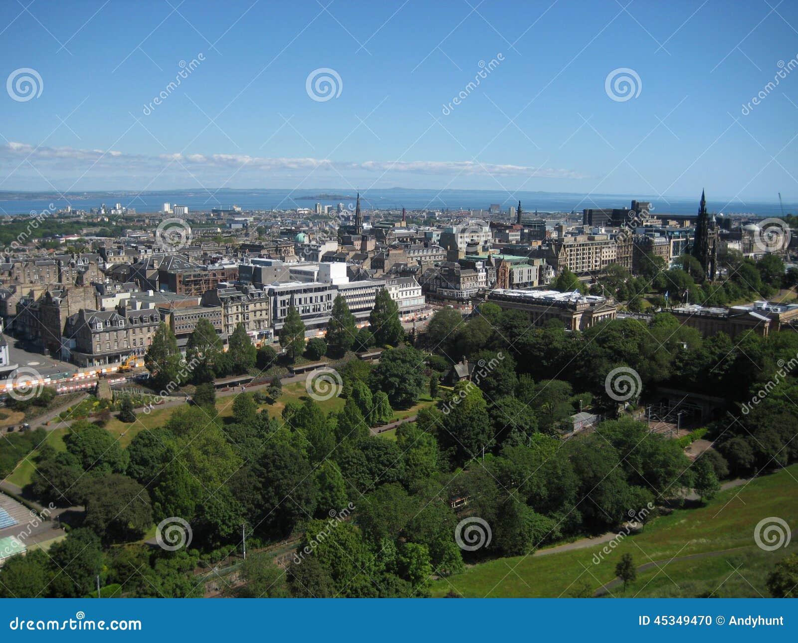De horizon van Edinburgh