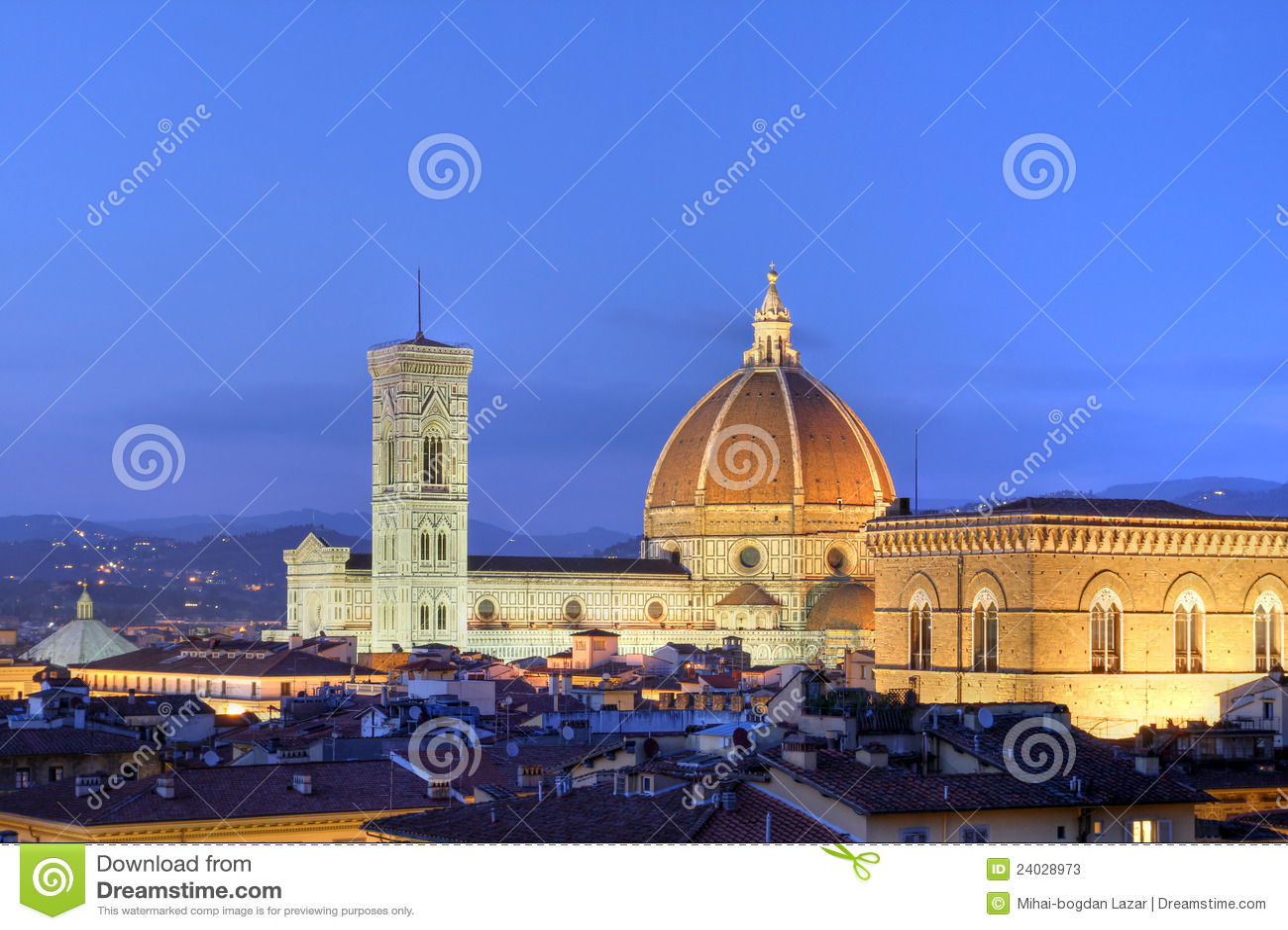 De horizon van Florence, Italië