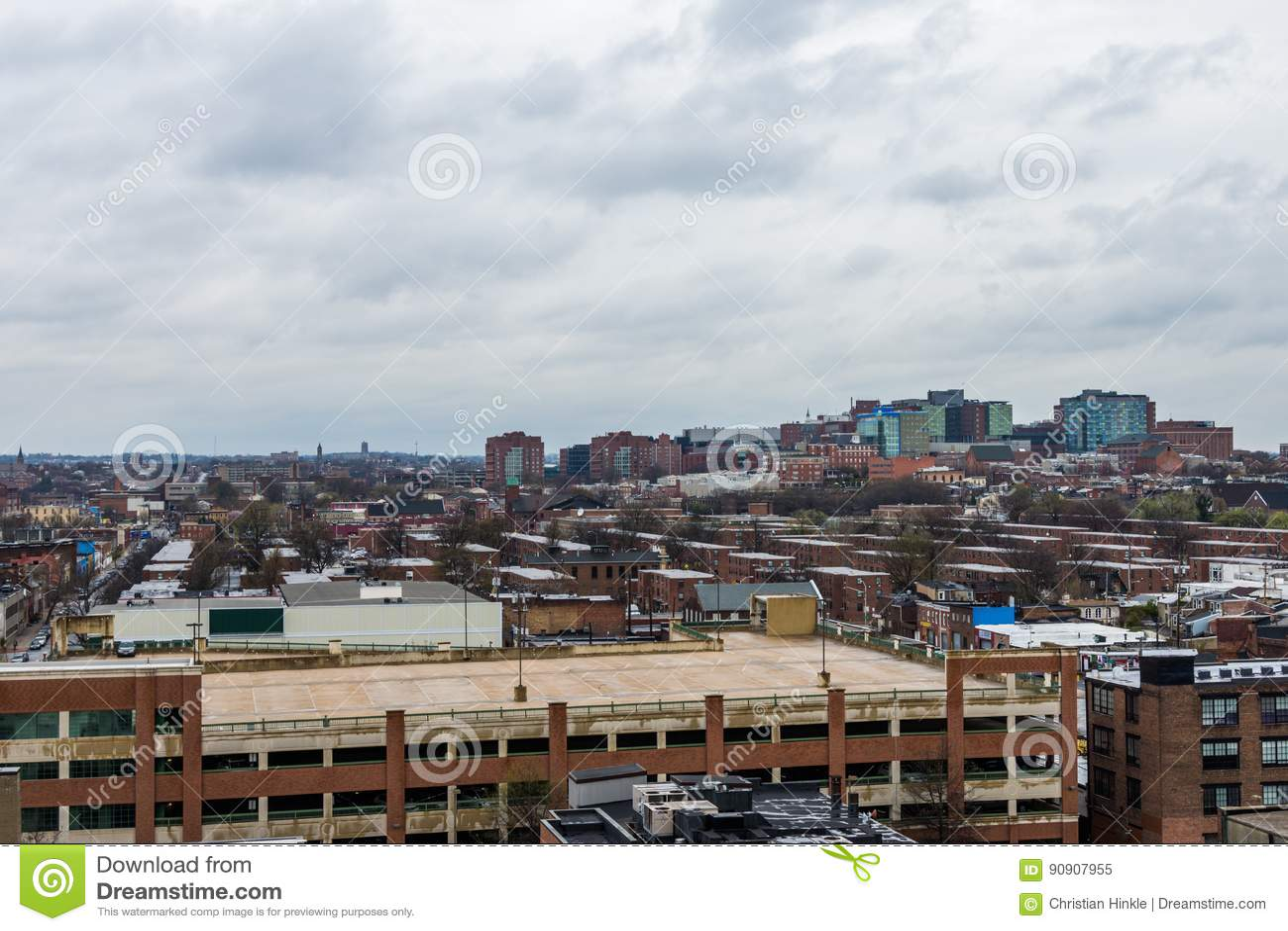 De horizon van het noorden fells punt en patterson brengt het park in Baltimore in de war