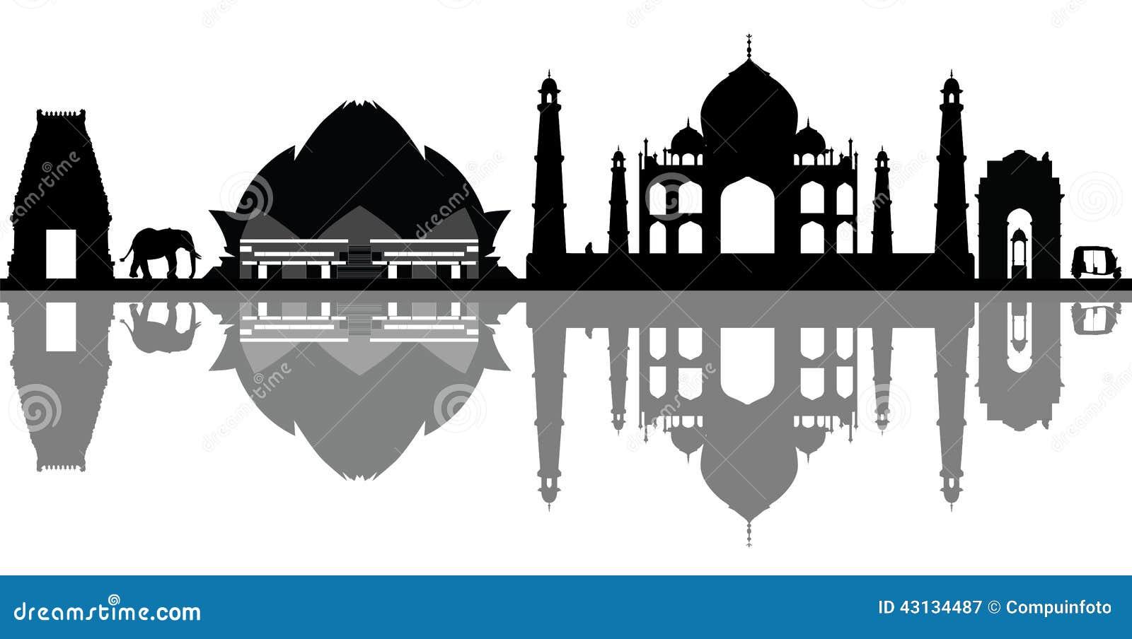 De horizon van India New Delhi