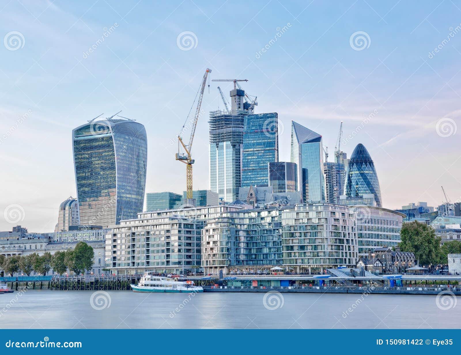 De Horizon van Londen, Engeland, het Verenigd Koninkrijk