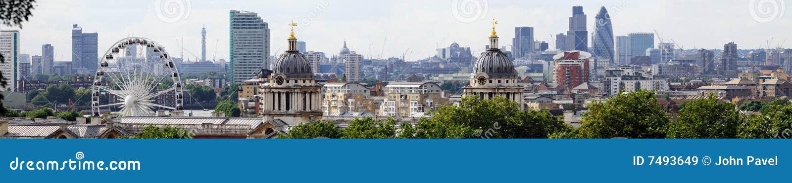 De horizon van Londen van Greenwich