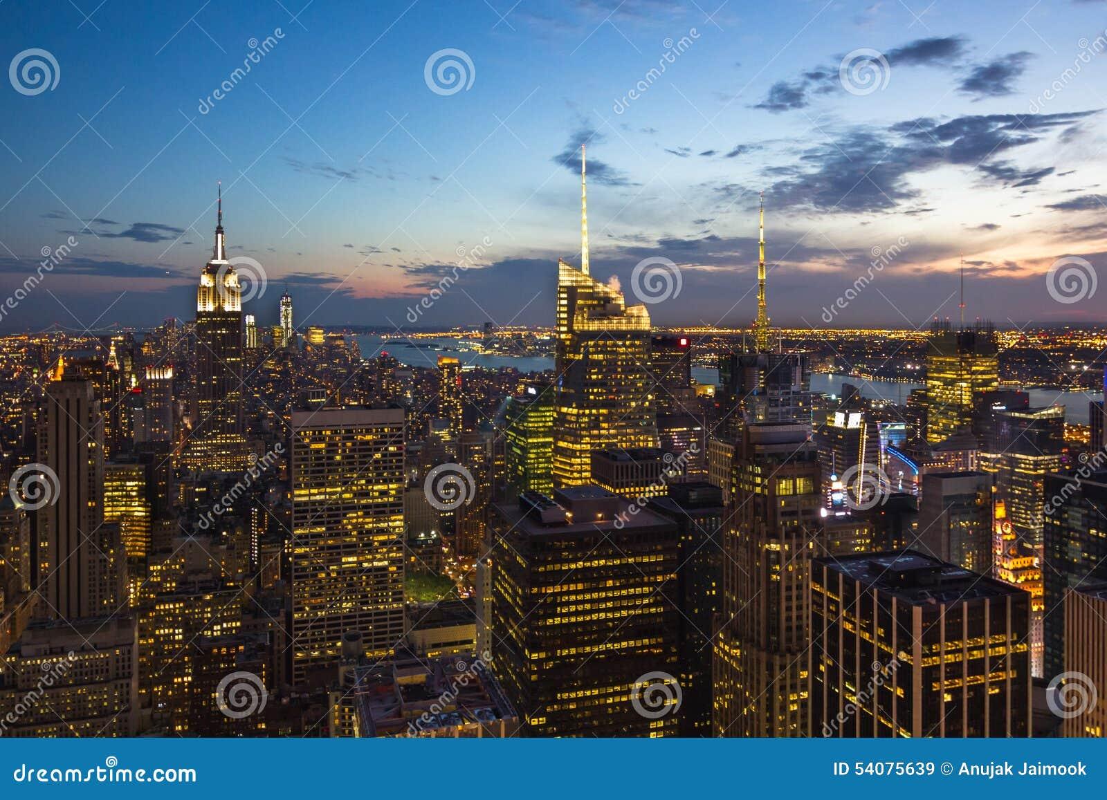De Horizon van New York, de V