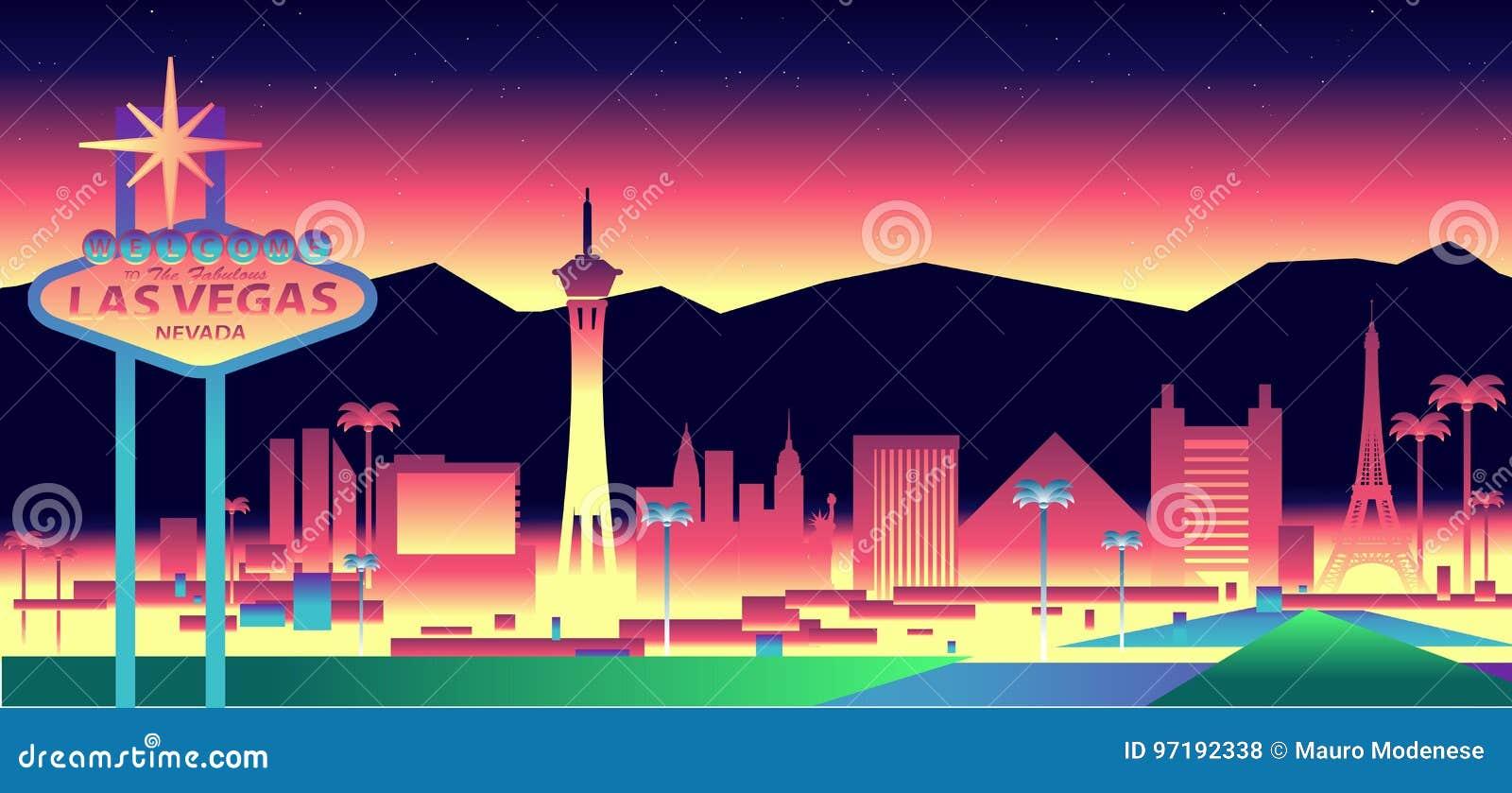 De horizon van Vegas van Las
