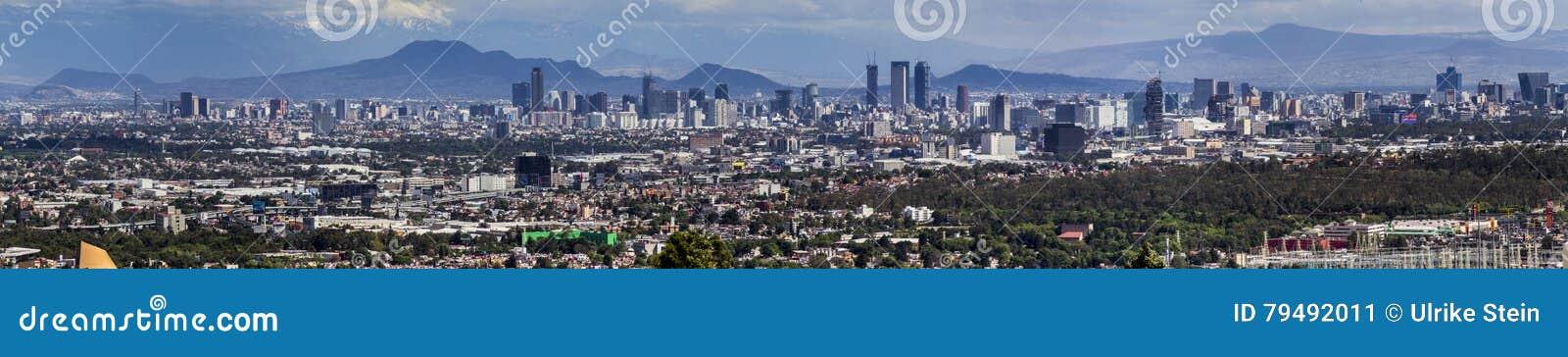 De horizonpanorama van Mexico-City