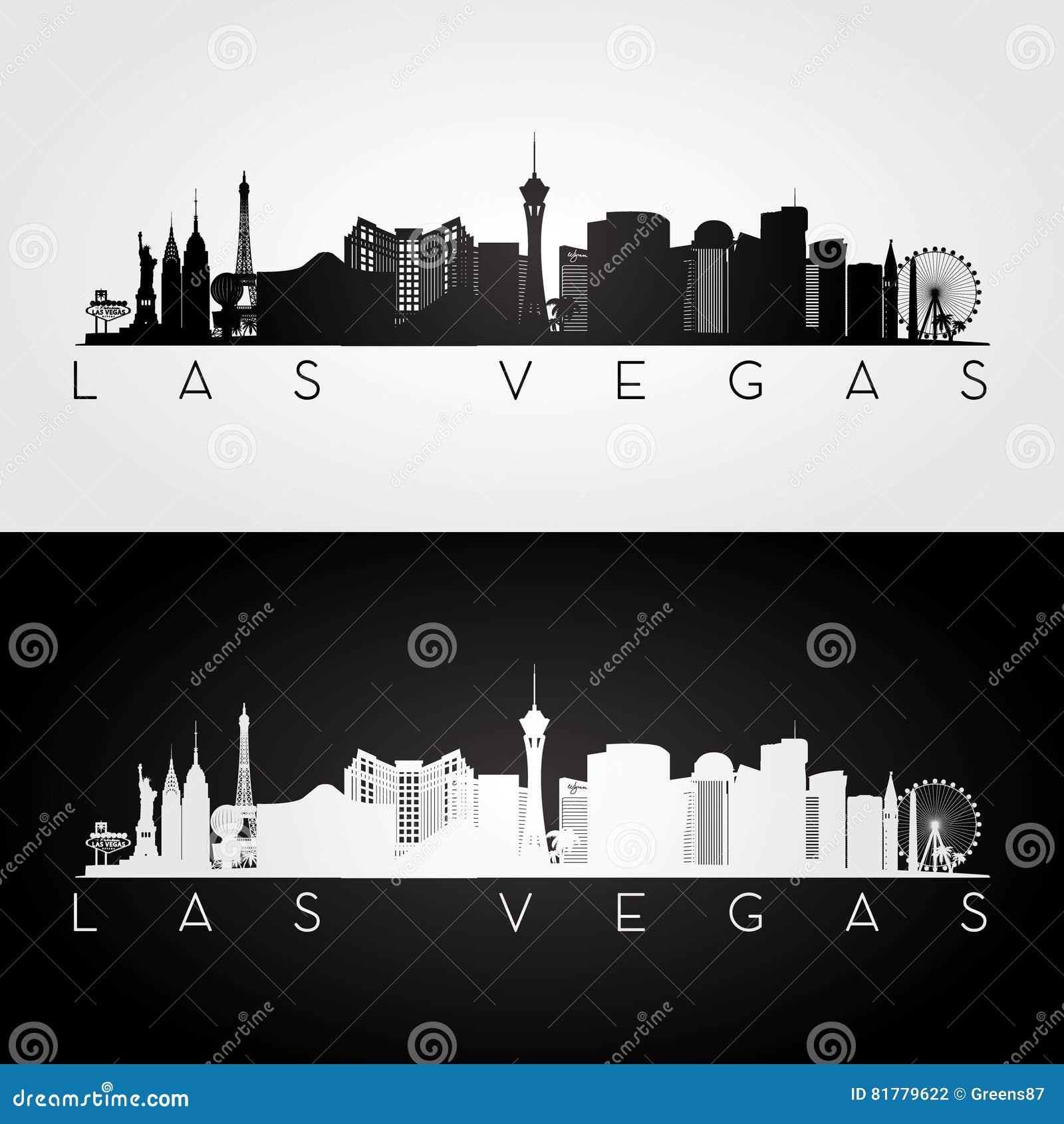 De horizonsilhouet van Las Vegas