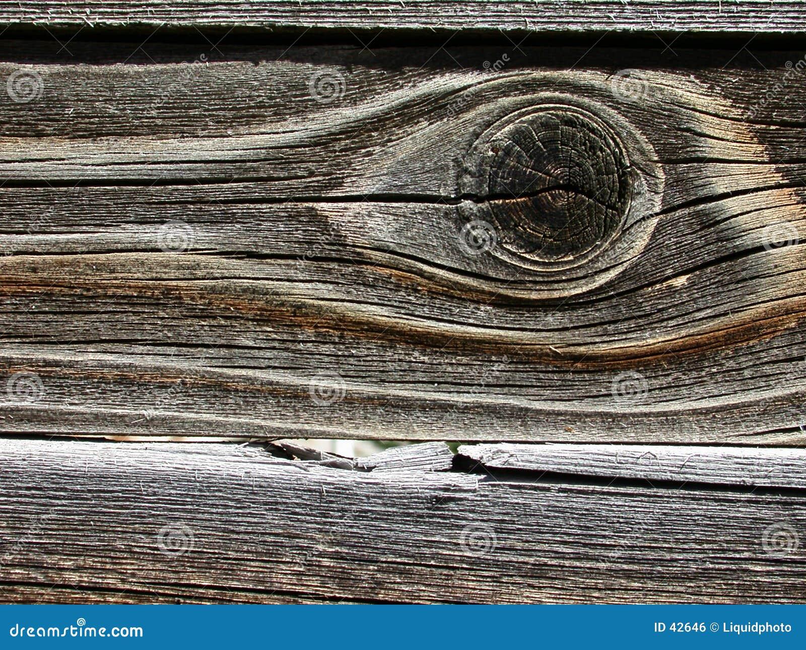 De houten Achtergrond van de Korrel met Oog