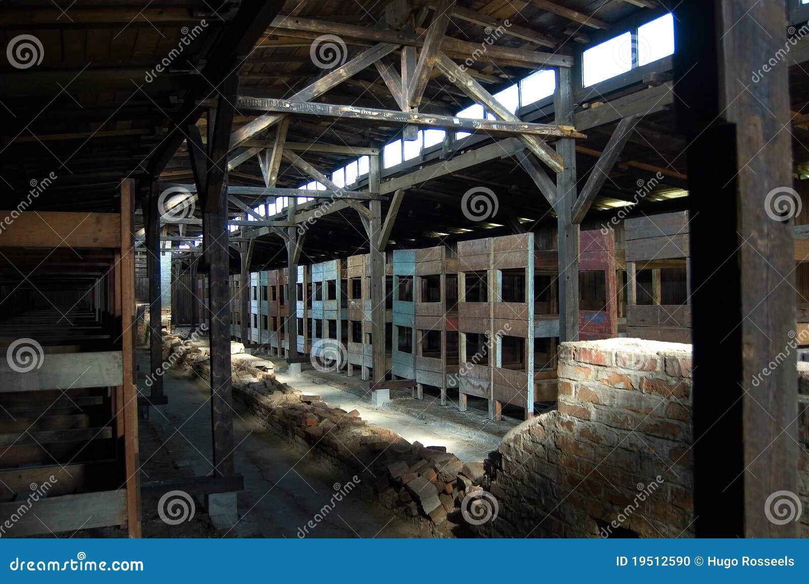 De houten bedden van de barak van birkenau redactionele afbeelding afbeelding 19512590 - Houten bed ...